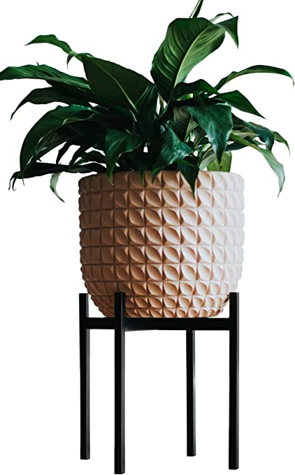 Plant Pot Stands for Indoor & Outdoor - Iron, Non-Slip Rubber Feet to Protect Floors