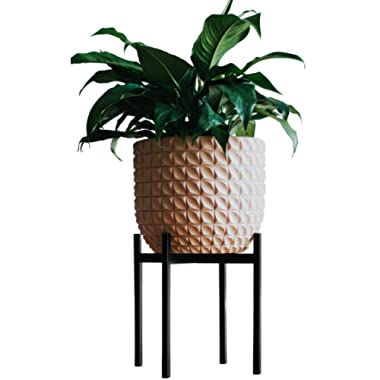 Stylish Plant Stand Mid Century Plant Stand Indoor Outdoor Flower Pot Stands | Planter Stand for House, Garden, & Patio | Holders for Pots & Plants | Rust Resistant Potted Plant Holder | Pot Trivet