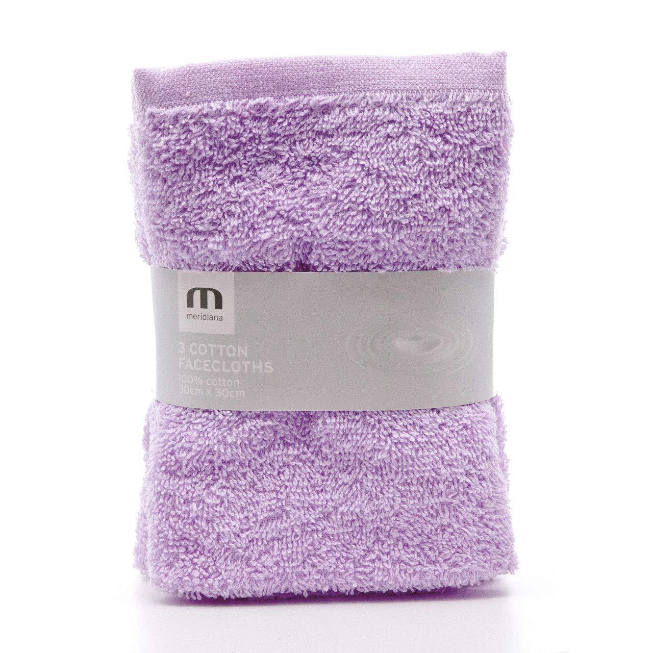 Meridiana Super Soft 100% Cotton Family Washcloths. Machine Washable. Cream. 3 Pack. 30cm x 30cm Paul Murray PLC ME016CREAM