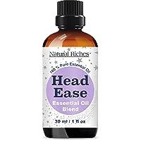 Natural Riches Migraine & Headache Pain Relief Essential Oil Blend for Head Ease...