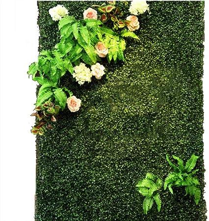 YNFNGXU Seto Artificial con imitación Floral Verde Pantalla de privacidad Fondo Pared de plástico Jardín Decoración de la Pared del hogar (0.96㎡) (Color : 03): Amazon.es: Hogar