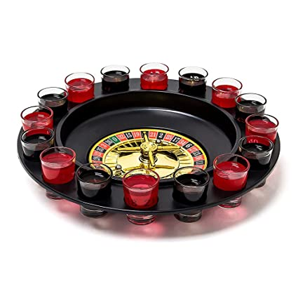 Amazon Com Ireav Drinking Game Roulette Set With 16 Shot Glasses 30