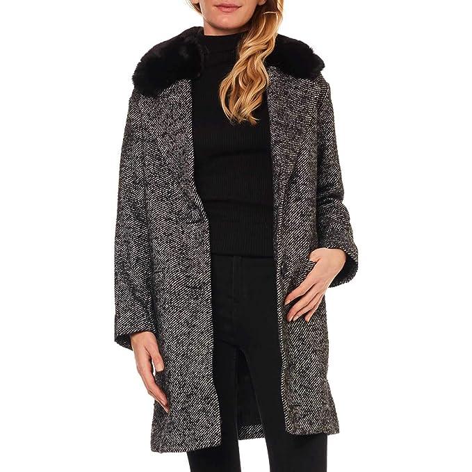 Levis -Abrigo con Ribete DE Piel SINTÉTICA 56304-0001 -Abrigo Mujer (Talla