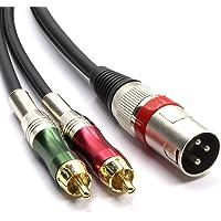 SiYear - Cable adaptador de conector XLR macho
