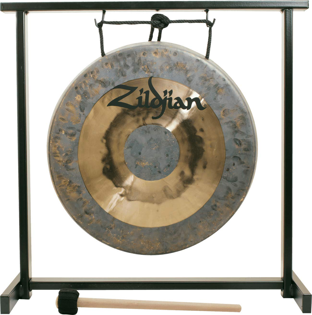 """Zildjian 12"""" Traditional Gong Table-Top Stand Set"""