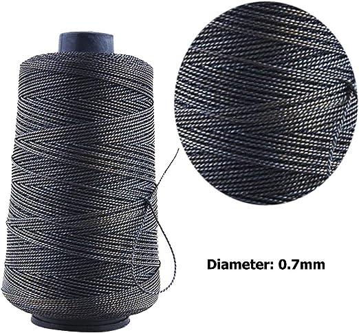 Hilos de costura de 300 m de hilo encerado de nailon resistente y ...