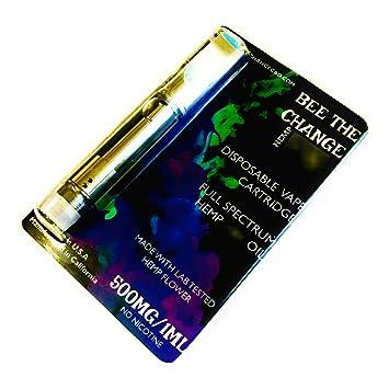 500mg Hemp Oil Vape Cartridge (1ml) Cotton Candy Swirl :Stress Relief:  Relaxation: