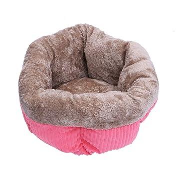 POPETPOP Cama para Dormir para Mascotas Invierno Cama cálida de Terciopelo de Pana Nido Redondo Perrera