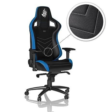 Noblechairs Epic H2 K edición Gaming Silla – Negro/Azul/Blanco