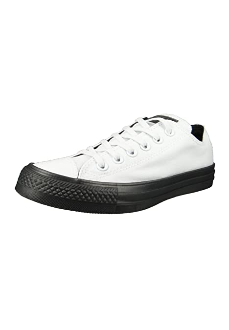 Converse All Star Zapatillas Ox Blancas con Suela Negra: Amazon.es: Zapatos y complementos