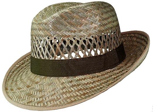 8c0633c241a82 Einfacher Strohhut in Bogartform  Amazon.de  Bekleidung