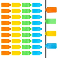 Self-Adhesive Identification Cable Tags 40P, Anglekai Wire Labels for Office Cable Tags 4 Color Write Cables Label Tags…