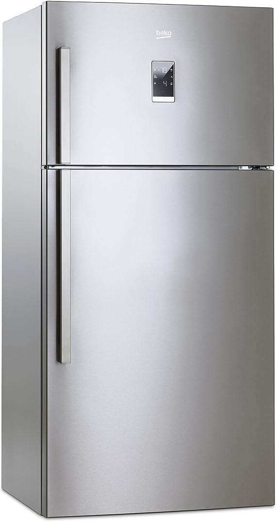 Beko DN162220X Independiente 533L A+ Acero inoxidable nevera y congelador - Frigorífico (533 L, Antiescarcha (nevera), SN-T, 10 kg/24h, A+, Acero inoxidable): Amazon.es: Hogar