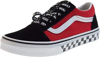 Chaussures Vans Sk8 hi Junior Heel Scab Black White