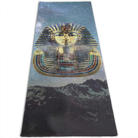 King Pharaoh Tutankhamun Egypt TUT Egyptian Gift Yoga Mat ...