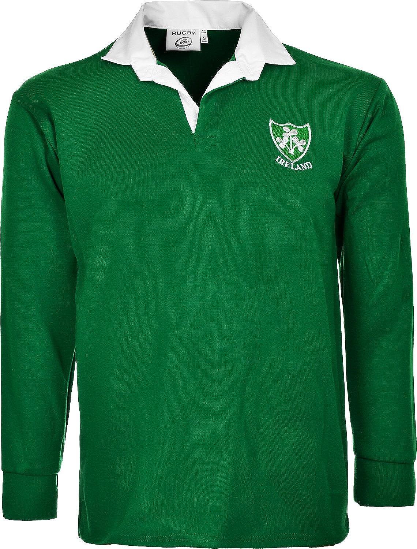 Camiseta de rugby de Active Wear, del equipo irlandés, de aspecto retro, de manga larga, tallas S a 5XL: Amazon.es: Ropa y accesorios