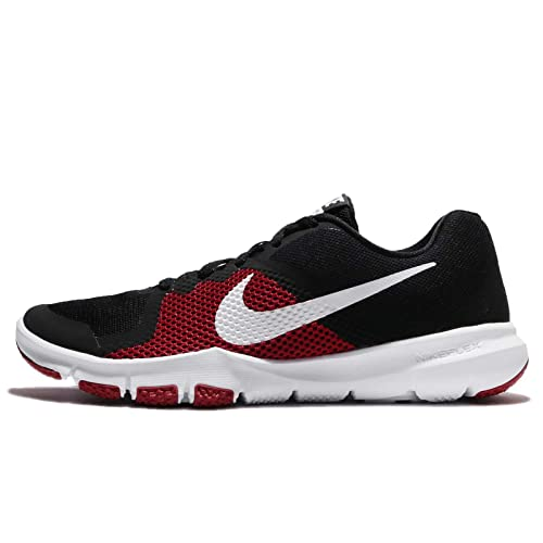 595e9b236e3e Nike Men s Flex Control Black White-Tough Red Multisport Training Shoes-7 UK