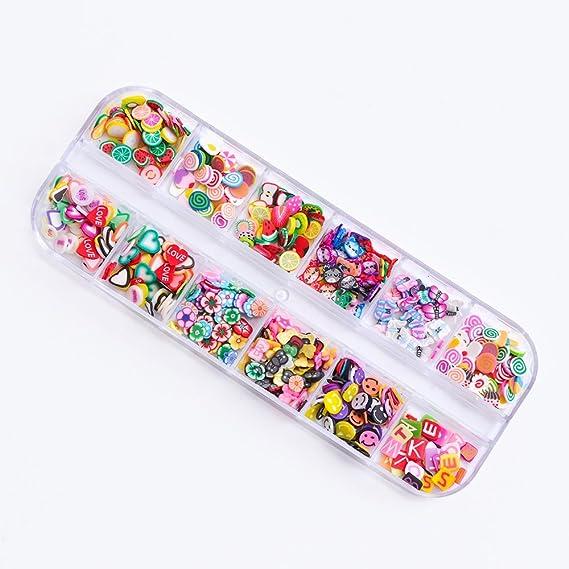 Juego de pegatinas de arcilla polimérica para uñas, diseño ...