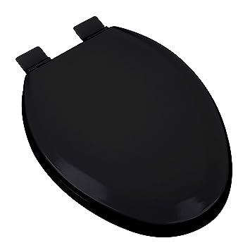 Black Elongated Toilet Seat.Bath Décor 1f1e5 90 Premium Molded Wood Elongated Toilet Seat With Adjustable Hinge Osg Black