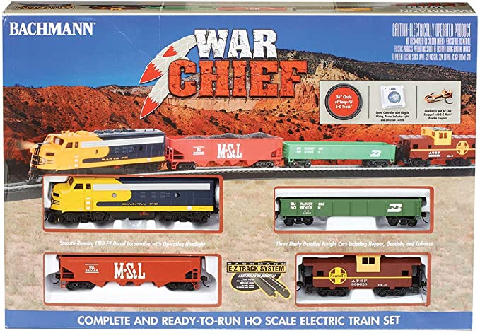 Amazon Com Bachmann Trains Santa Fe Chief Ready To Run Ho Scale Electric Train Set Toys Games