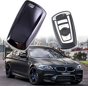 Fits BMW Car Smart Remote Key Fob Shell Holder Case Cover Silver Plastic