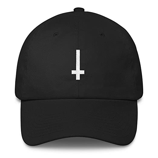 87591092112 Image Unavailable. Image not available for. Color  upside down cross hat  Cotton Cap