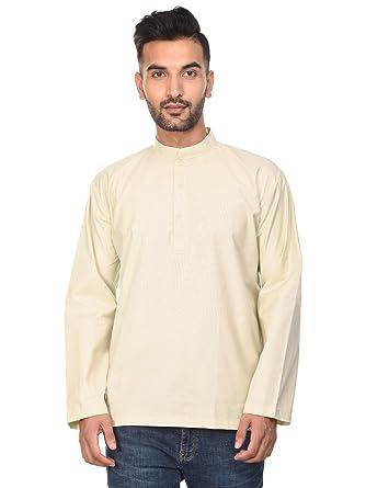 Indio camisa de algodón - los hombres de manga larga ropa de yoga ...