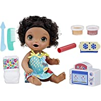 Baby Alive Snackin' Black Curly Hair Treats Baby