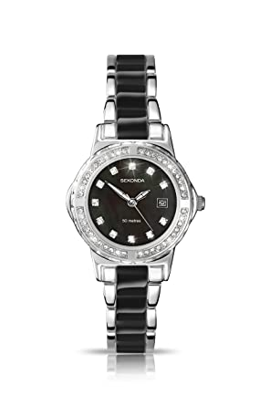29cee93ad58f Sekonda Women s Quartz Watch with Mother of Pearl Dial Analogue Display and  Two Tone Alloy Bracelet