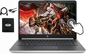 "2020 HP 14"" Touchscreen Laptop Computer, AMD Ryzen 3 3200U up to 3.5GHz (Beat i5-7200U), 8GB RAM DDR4, 256GB PCIe SSD, 802.11AC WiFi, USB Type-C, Windows 10, w/Ghost Manta Accessories"