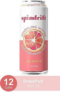 12-Pack Spindrift Sparkling Grapefruit Flavored Water, 16 Fl Oz