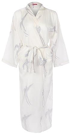 Ladies Lightweight Cotton Dressing Gown - Kimono Robe - 100% organic cotton.  Hand- dfe39c0b0