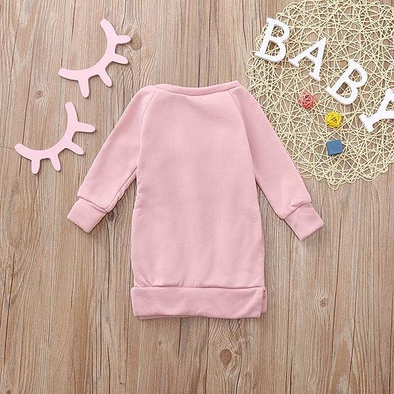 Amazon.com: Kehen Kid Toddler Girl Warm Autumn Winter Dress Padded Lining Dance Long Sleeve Casual Dress with Pom Pom: Clothing