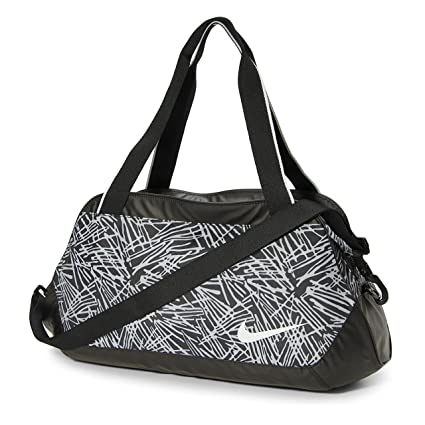 Nike Legend Club Print Carry All Duffel Bag-Black/Grey