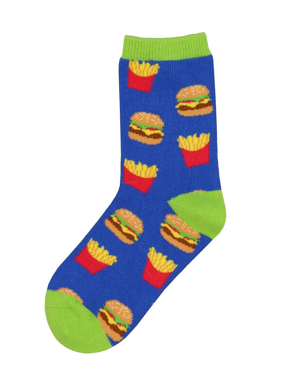 Bell Socks Kids Burger /& Fries Crew Socks Sockshosiery K