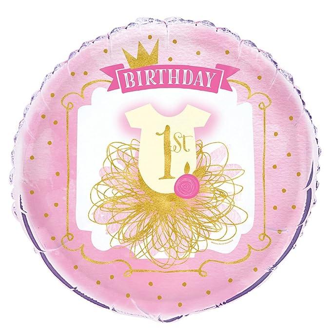 6 opinioni per Unique Party- Palloncino Primo Festa di Compleanno, Pink and Gold, 45 cm, 58167