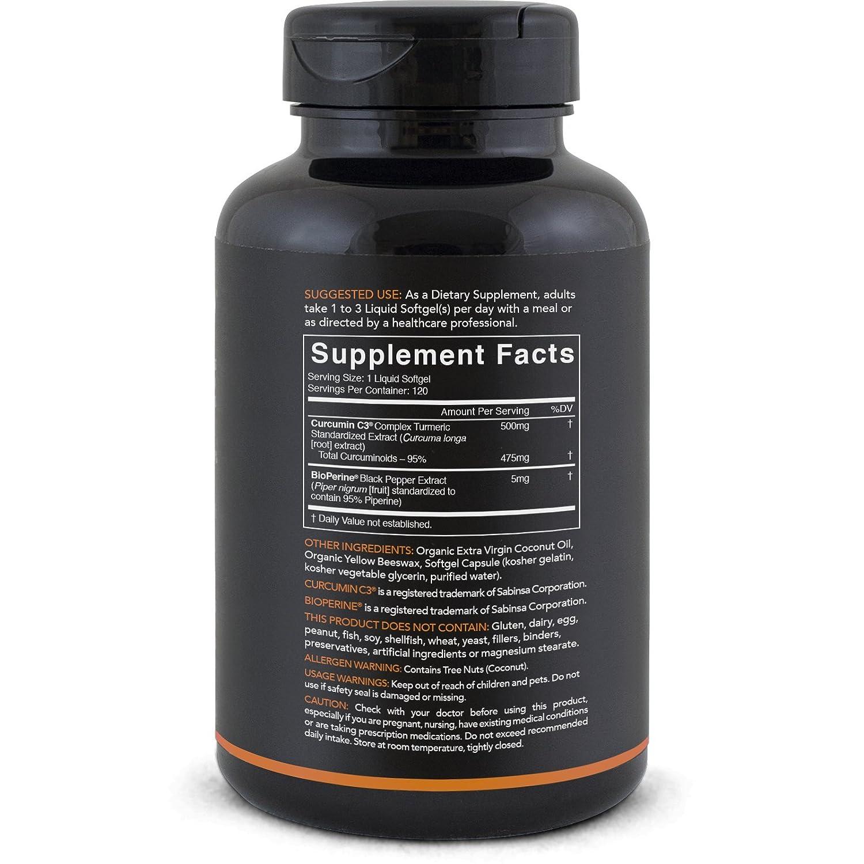 Amazon Turmeric Curcumin C3 plex 500mg Enhanced with