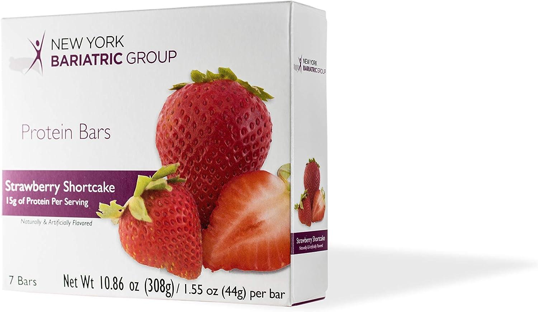 New York Bariatric Group Strawberry Shortcake Protein Bar - 11g Fiber - 16g Protein - Low Calorie - Gluten Free