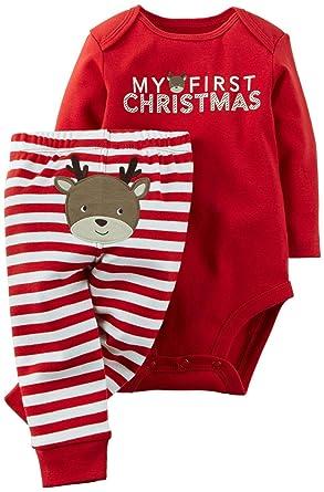 77c22a285e94 Amazon.com  Carter s Unisex Baby 2 Piece Holiday Set (Baby)  Clothing