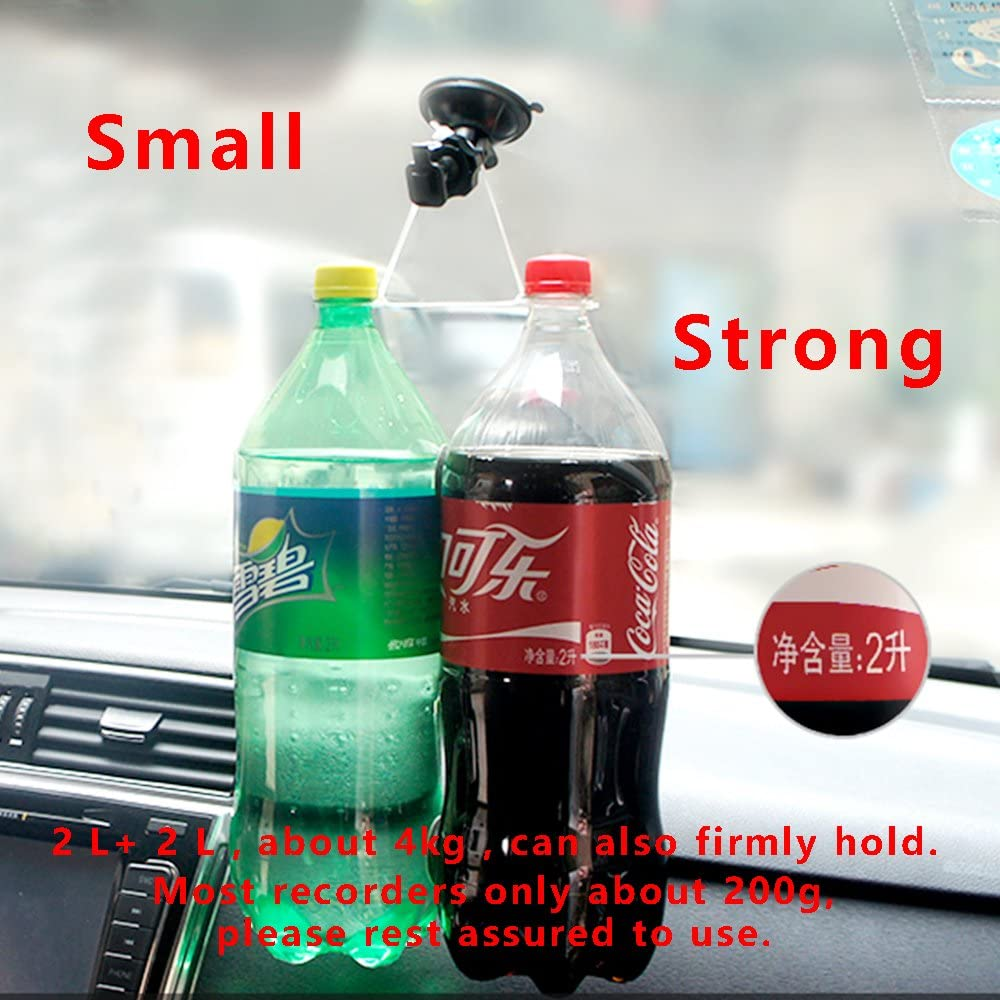 Removeable 2 Pcs Heat Resistant Easy toInstall Dash cam Mount for Apeman,Crosstour Dash cam,Suction Cup Mount Strong Suction Power