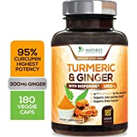 Turmeric Curcumin 95% Curcuminoids with BioPerine and Ginger 1950mg - Black Pepper...