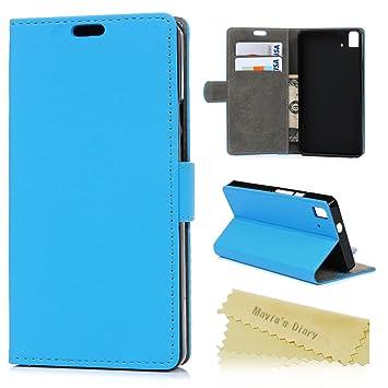 Maviss Diary bq Aquaris E5 4G LTE Funda Libro de PU Leather Cuero Funda para Móvil Carcasa con Flip Case Cover,Cierre Magnético,Función de ...