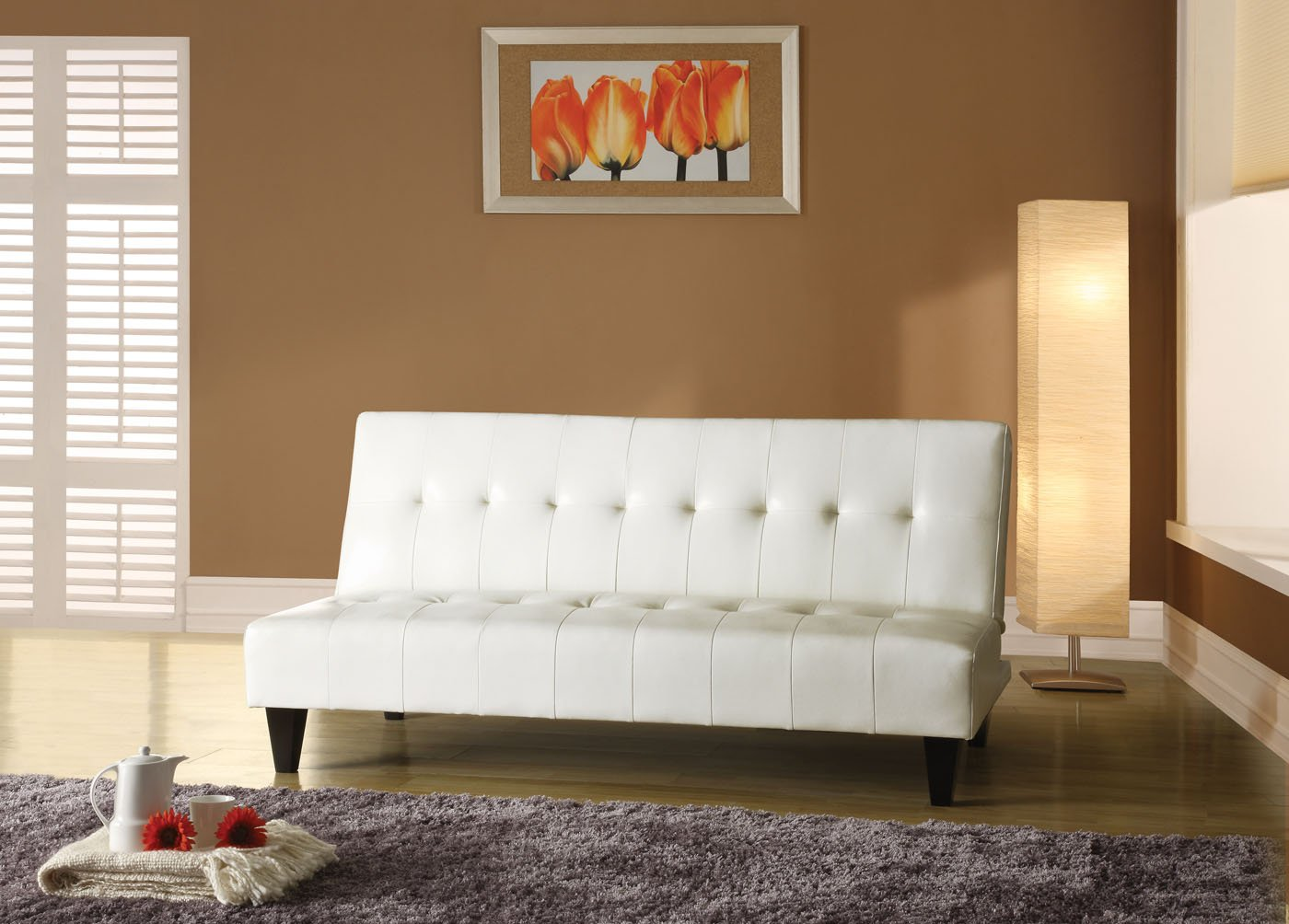 Attractive Amazon.com: Acme 05858C Conrad Adjustable Sofa, White Polyurethane Finish:  Kitchen U0026 Dining