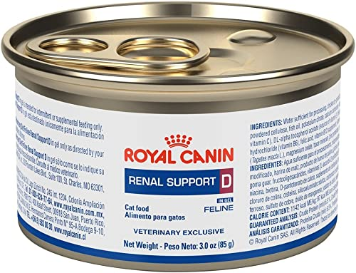 Royal Canin Renal Support D MIG Can Cat Food 24 3oz cans