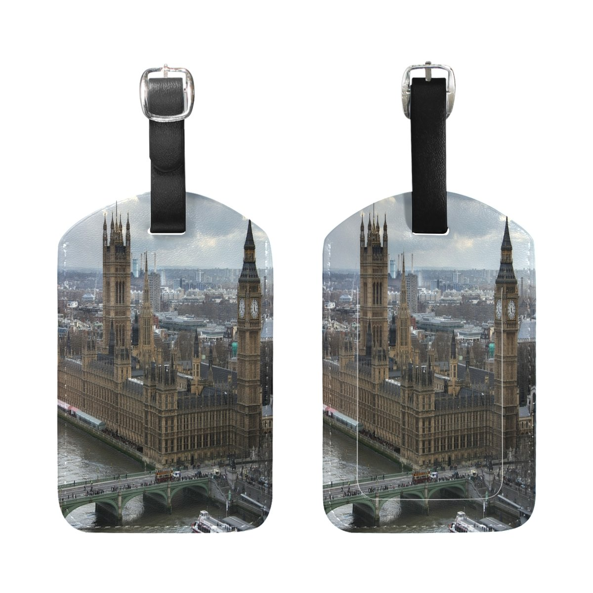 1Pcs Saobao Travel Luggage Tag Old Buildings PU Leather Baggage Suitcase Travel ID Bag Tag