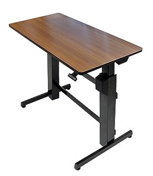 Amazoncom Ergotron WorkFitD SitStand Desk walnut Computers