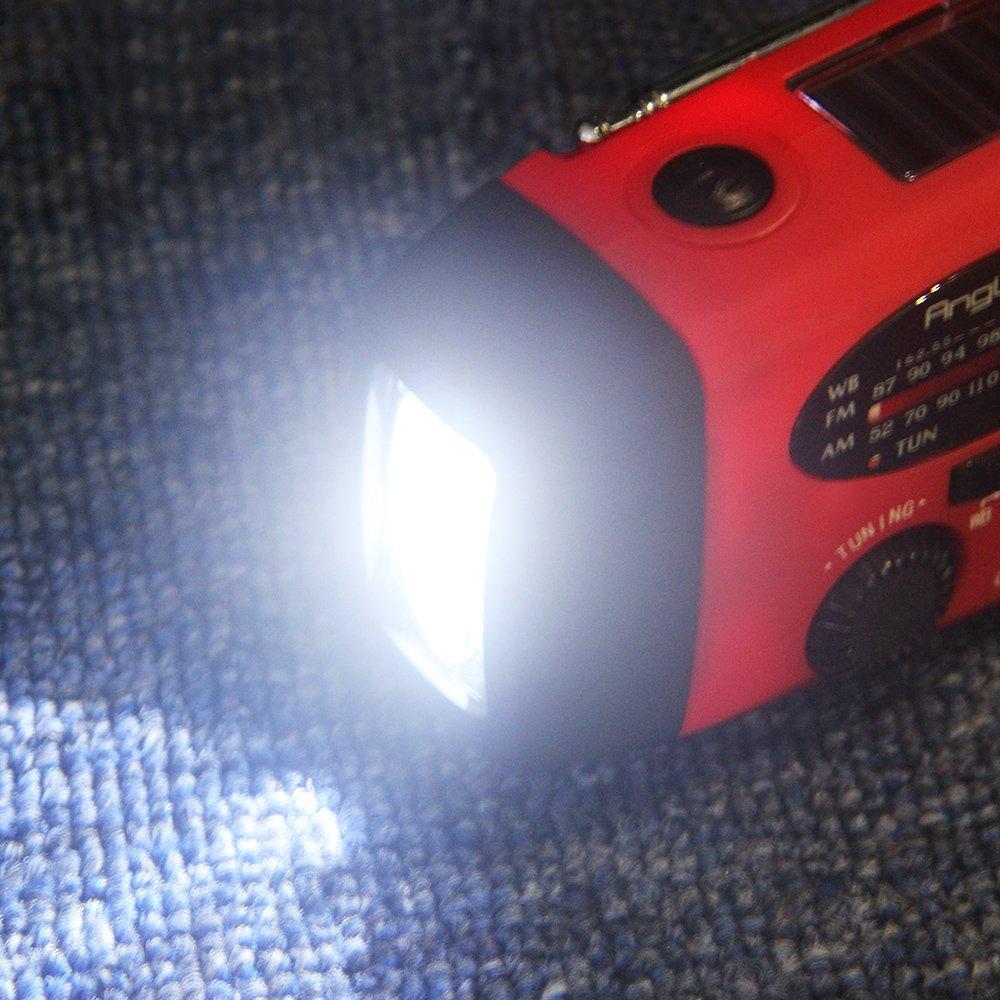 Kurbelradio mit Taschenlampe