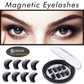 26200350d68 False Magnetic Eyelashes, 3D Reusable Fake Eyelashes for Natural Look,  0.2mm Ultra Thin