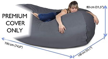 ... XXL en Gris - Funda Aterciopelada Muy cómoda con Espuma viscoelástica - Cama Gigante, sofá Largo, Tumbona acogedora, colchón Genial: Amazon.es: Hogar