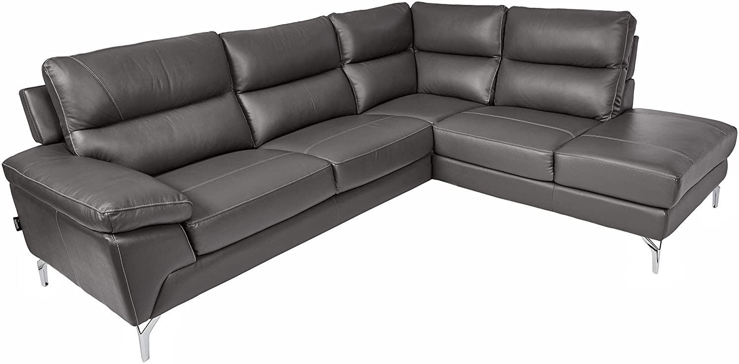 Homelegance 9969 Genuine Leather Upholstered Sectional Sofa, 98
